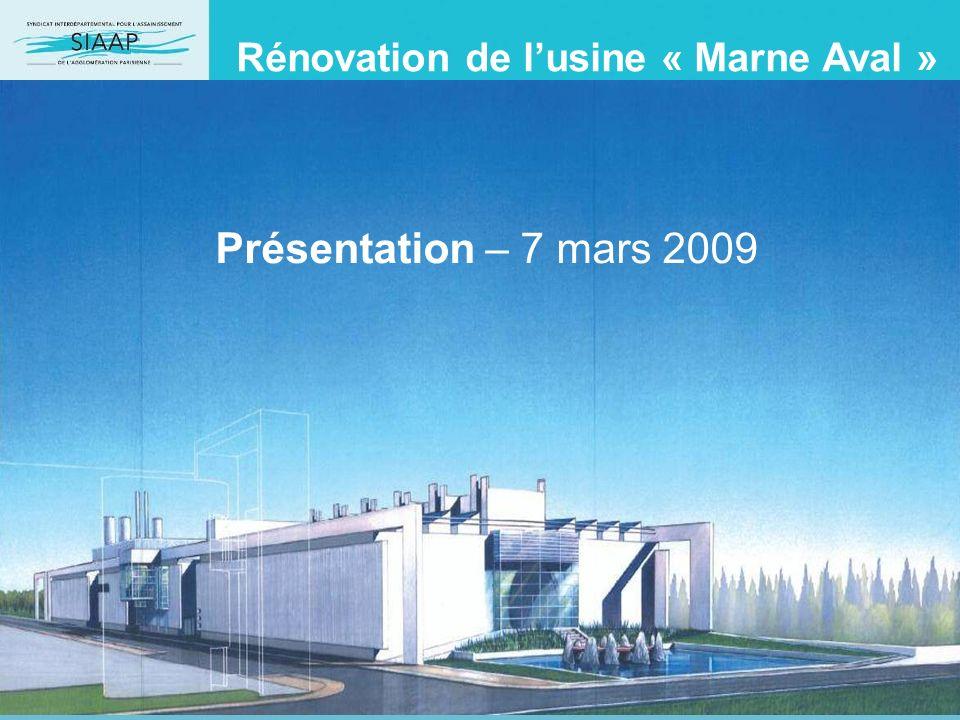 Rénovation de l'usine « Marne Aval »