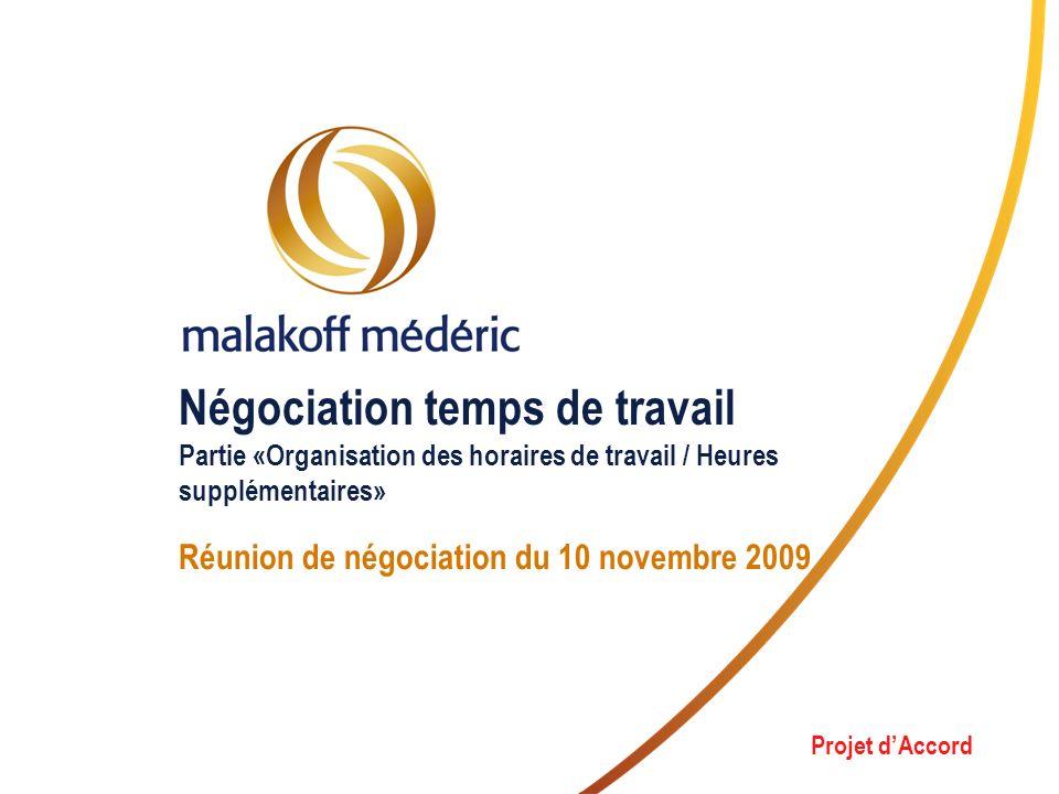 Réunion de négociation du 10 novembre 2009