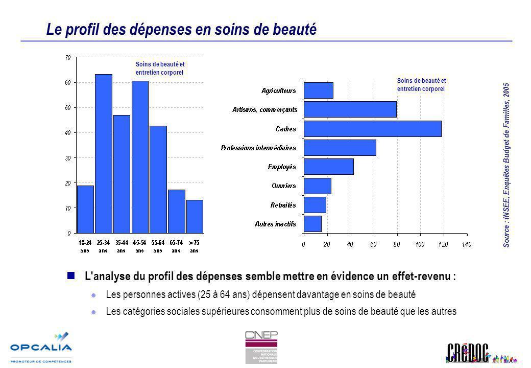Le profil des dépenses en soins de beauté