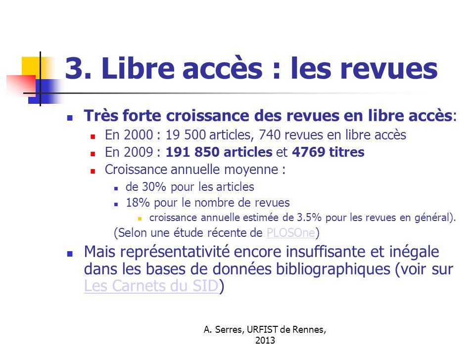 3. Libre accès : les revues