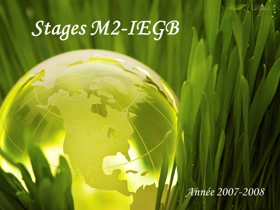 Stages M2-IEGB Année 2007-2008