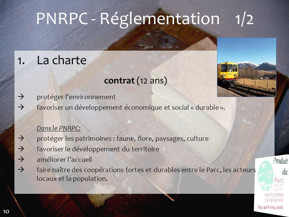 PNRPC - Réglementation 1/2