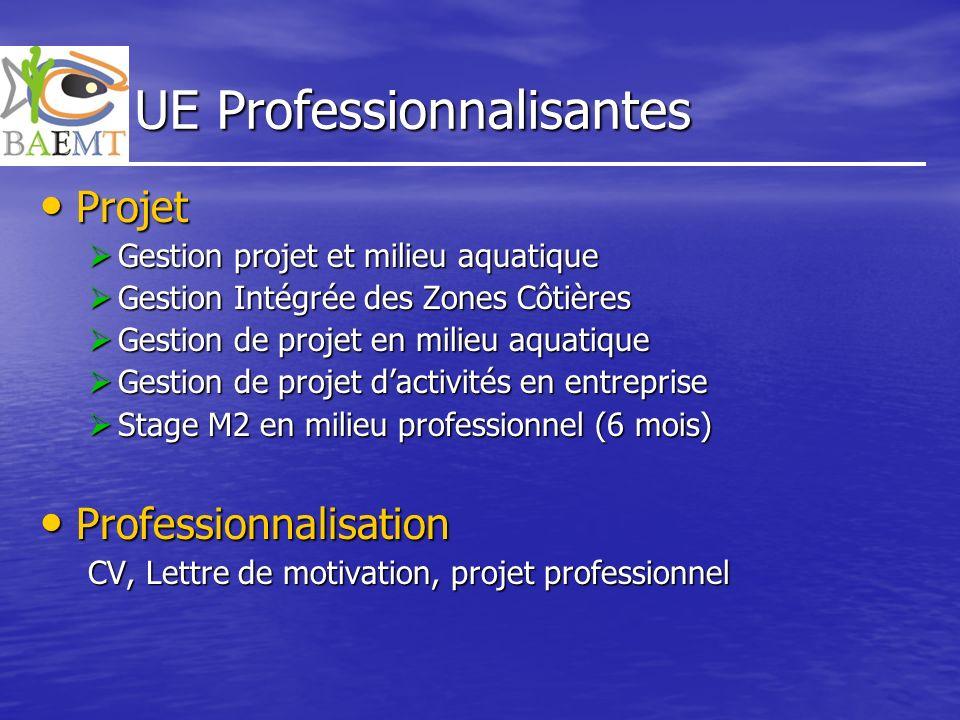 UE Professionnalisantes