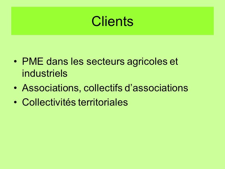 Clients PME dans les secteurs agricoles et industriels