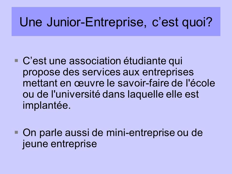 Une Junior-Entreprise, c'est quoi
