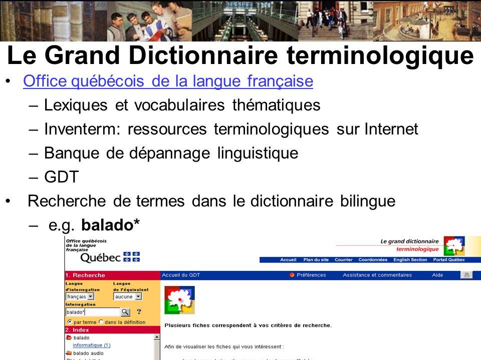 Le Grand Dictionnaire terminologique
