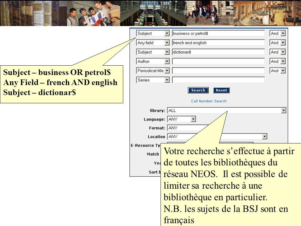 N.B. les sujets de la BSJ sont en français