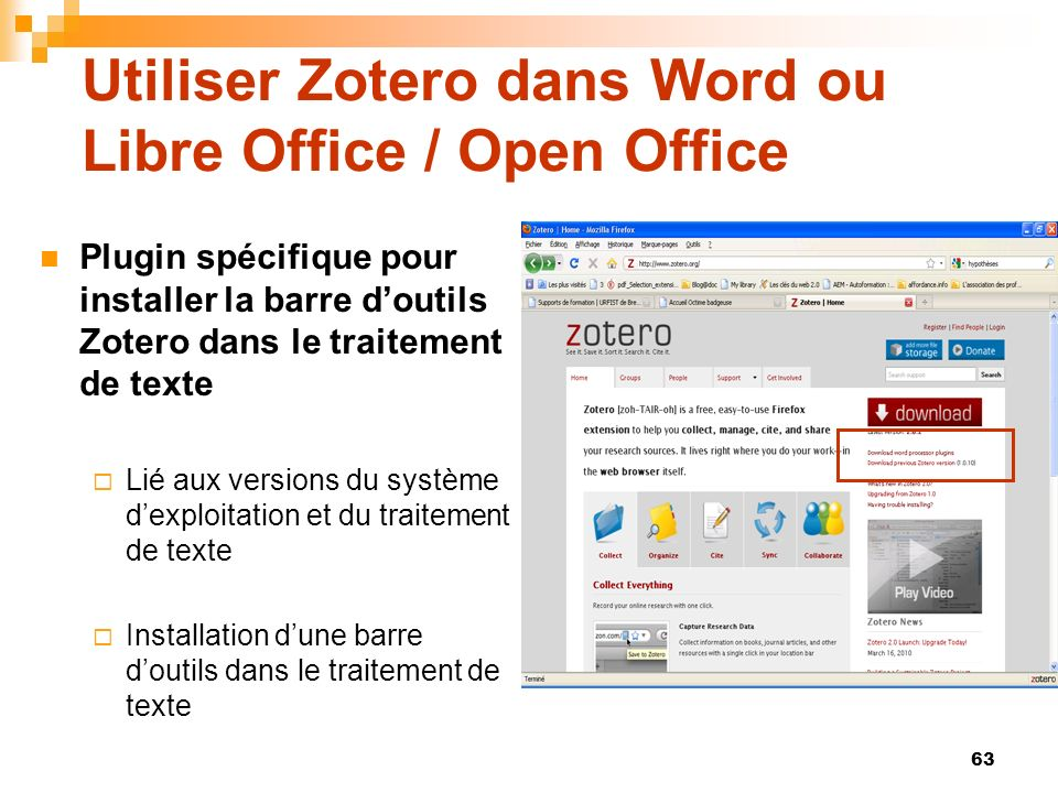 Utiliser Zotero dans Word ou Libre Office / Open Office