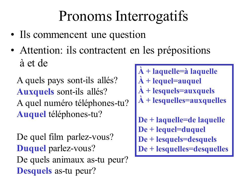 Pronoms Interrogatifs