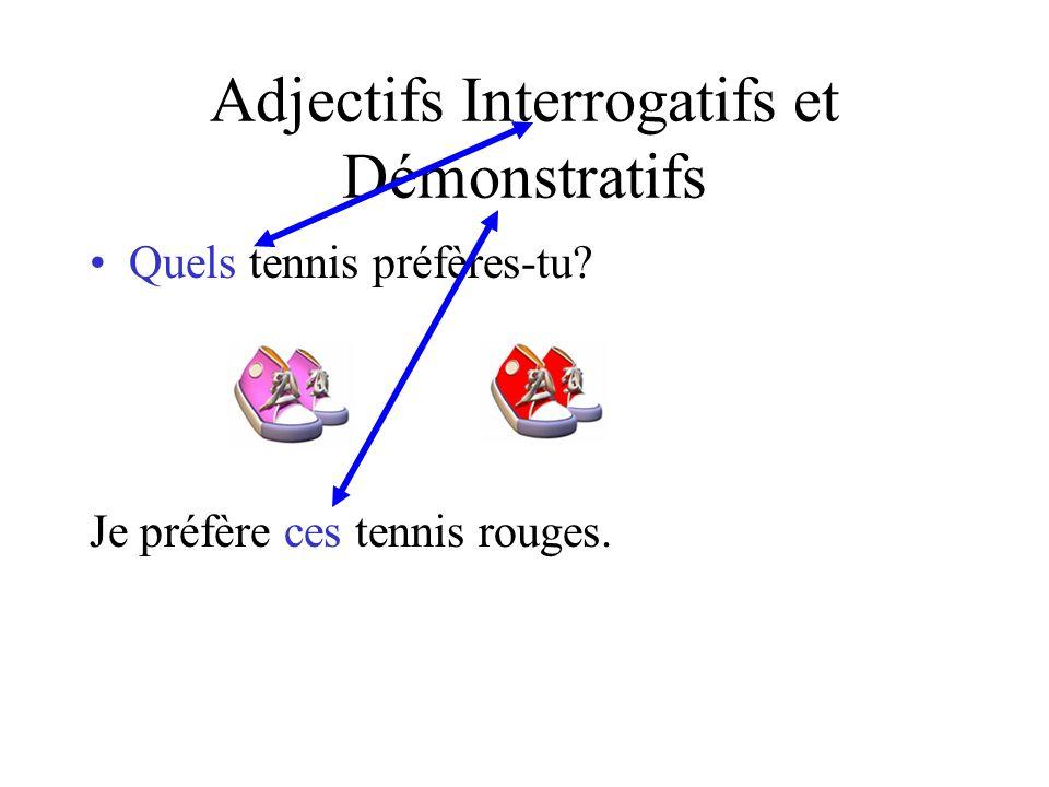 Adjectifs Interrogatifs et Démonstratifs