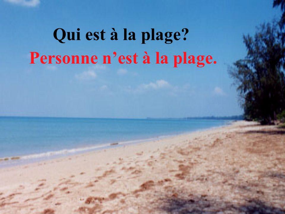 Qui est à la plage Personne n'est à la plage.