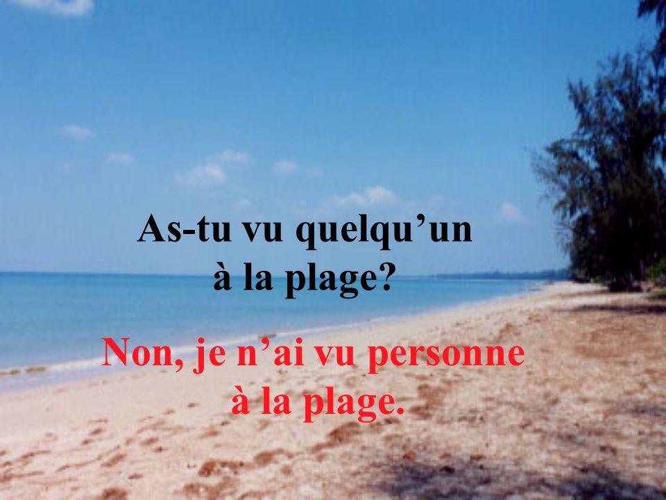 As-tu vu quelqu'un à la plage
