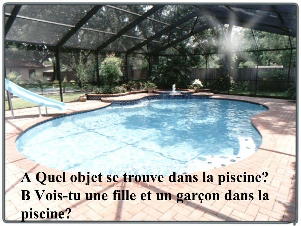 A Quel objet se trouve dans la piscine