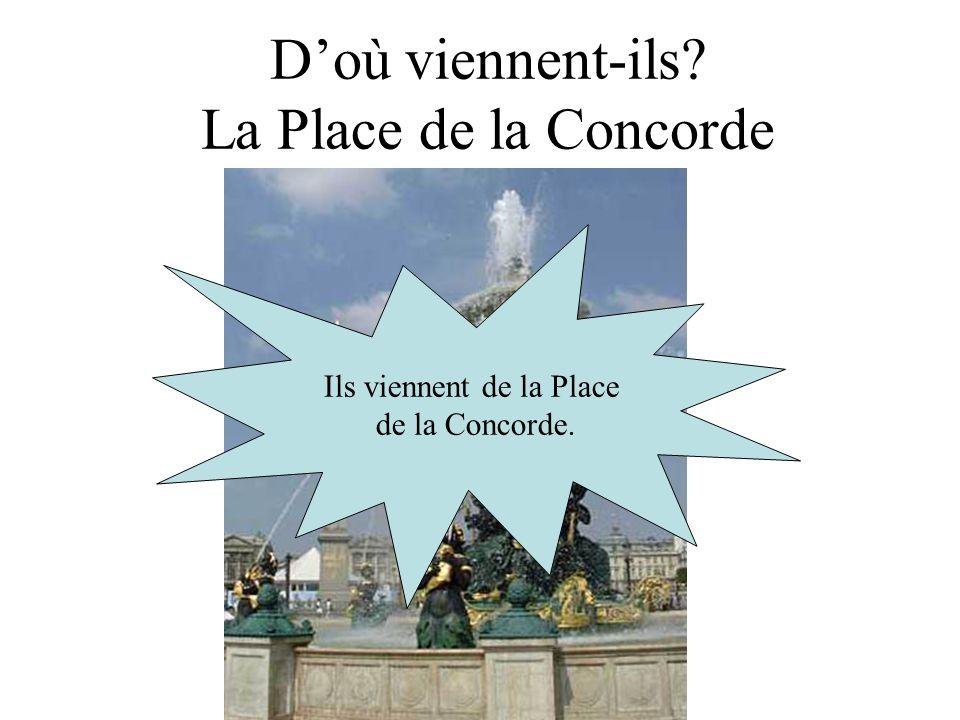 D'où viennent-ils La Place de la Concorde