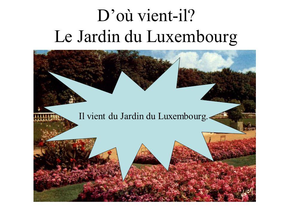 D'où vient-il Le Jardin du Luxembourg