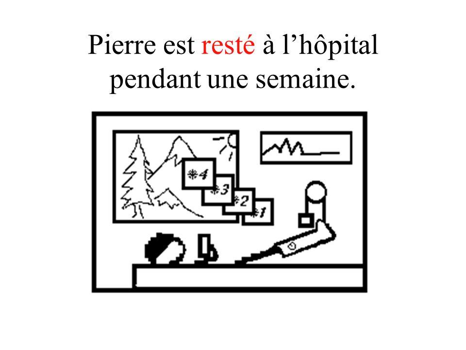 Pierre est resté à l'hôpital pendant une semaine.