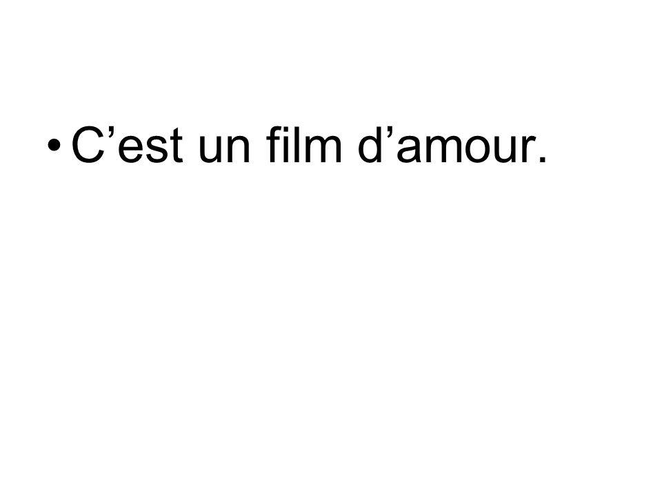C'est un film d'amour.