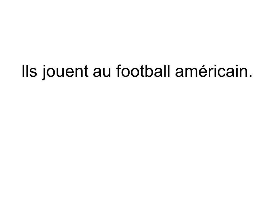 Ils jouent au football américain.