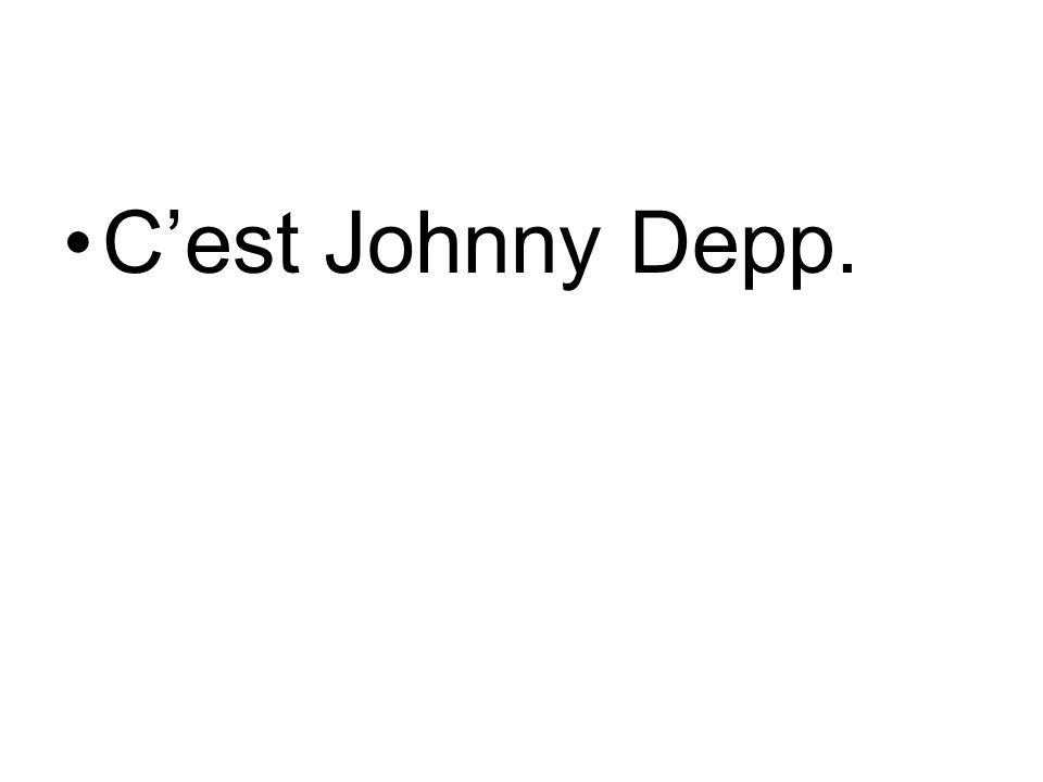 C'est Johnny Depp.