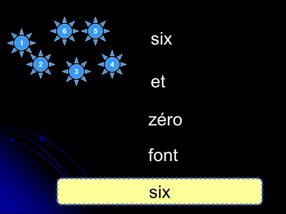 6 5 six 1 2 4 3 et zéro font six