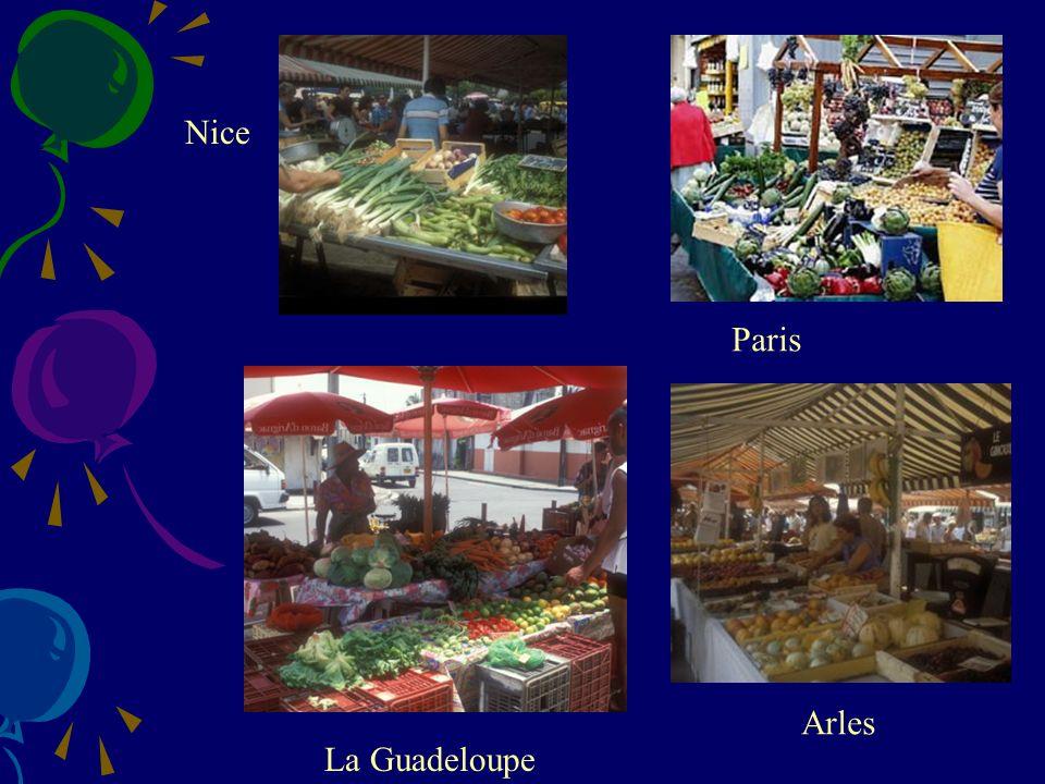 Nice Paris Arles La Guadeloupe