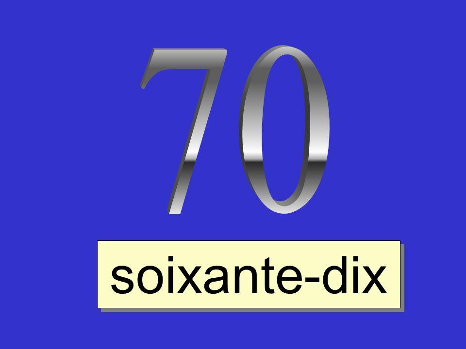 70 soixante-dix