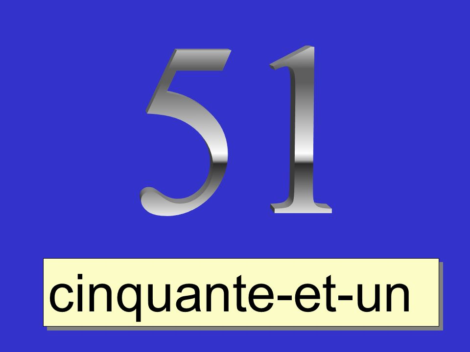 51 cinquante-et-un