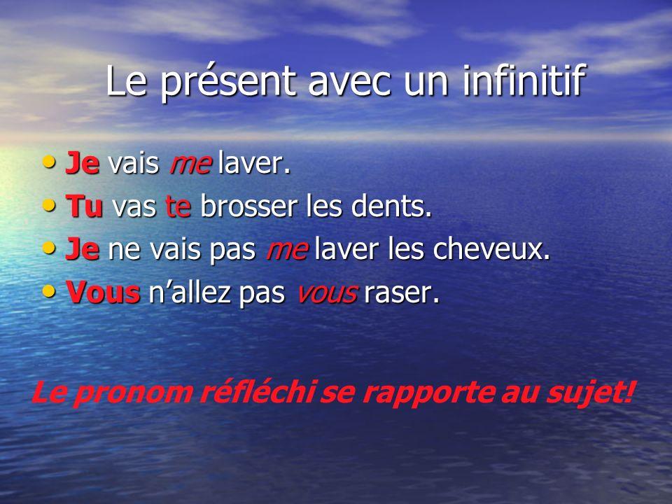 Le présent avec un infinitif