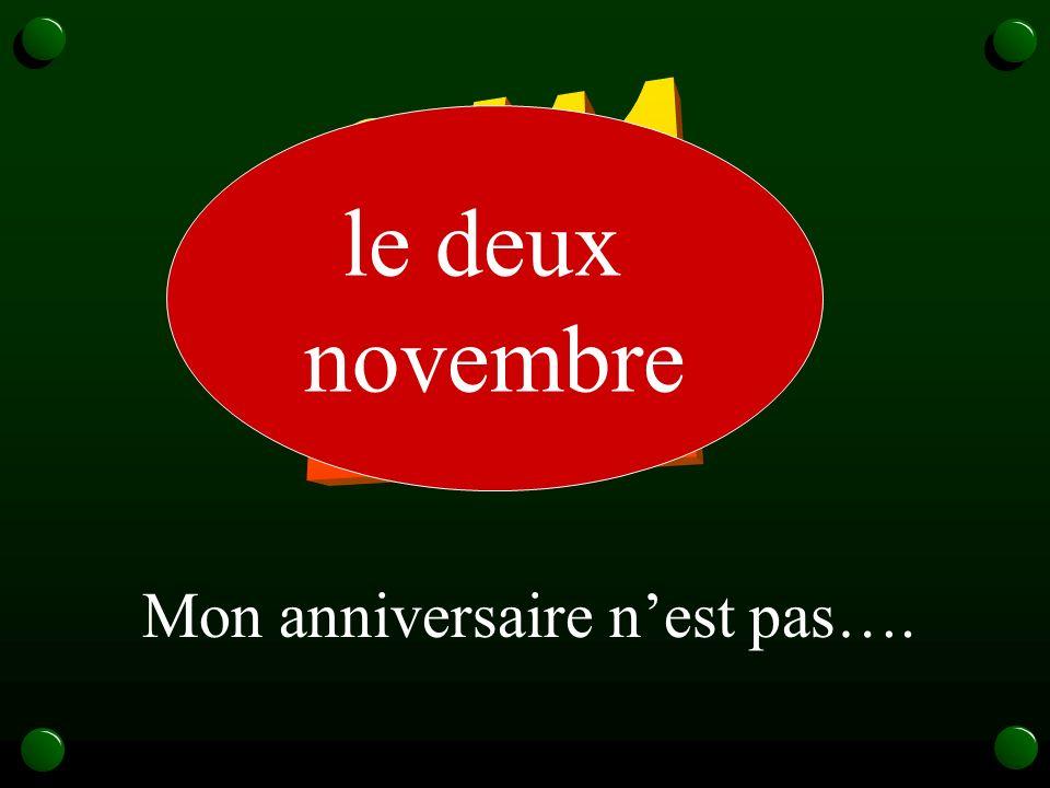 2/11 le deux novembre Mon anniversaire n'est pas….