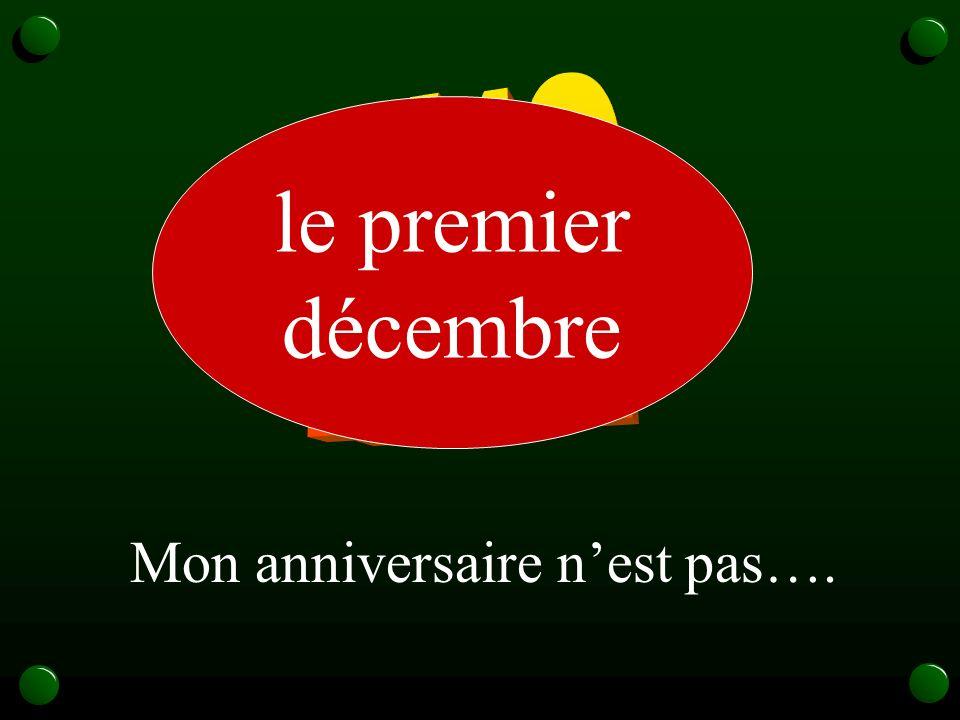 1/12 le premier décembre Mon anniversaire n'est pas….