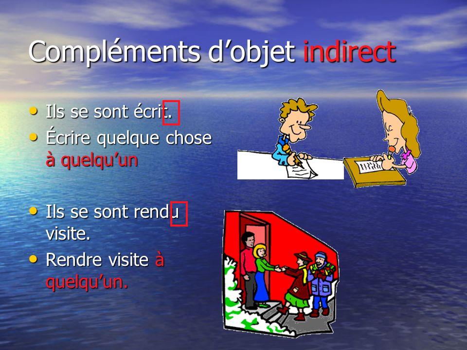Compléments d'objet indirect