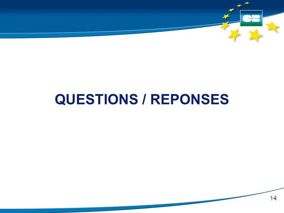 QUESTIONS / REPONSES 14
