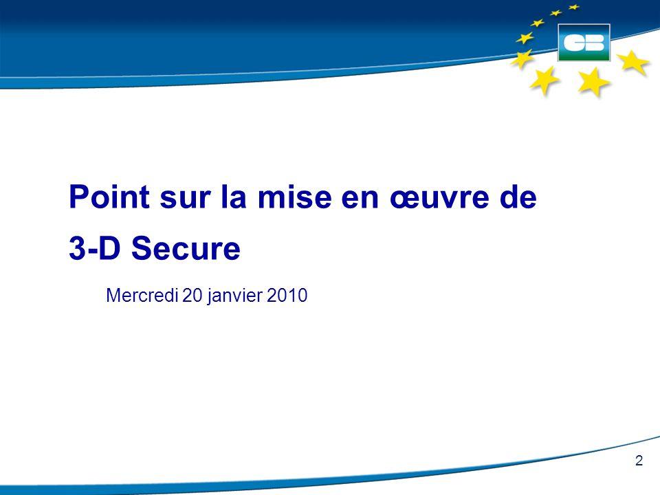 Point sur la mise en œuvre de 3-D Secure