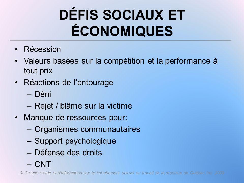Défis sociaux et économiques