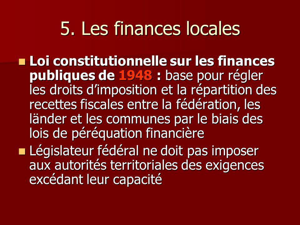 5. Les finances locales