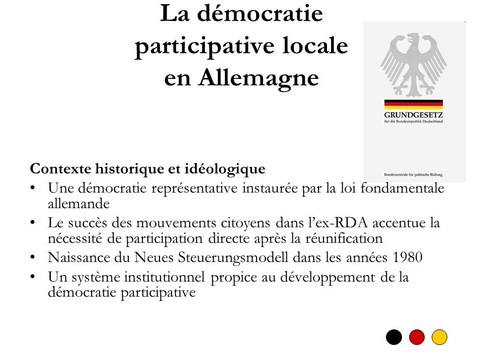 La démocratie participative locale en Allemagne