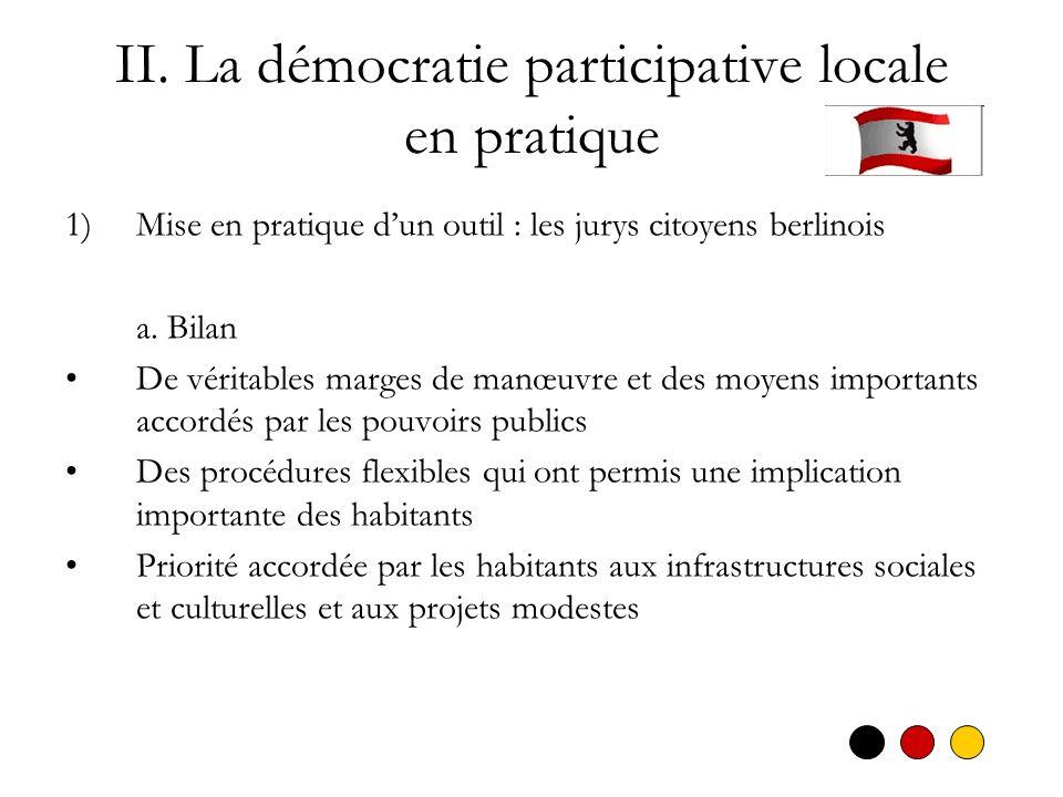 II. La démocratie participative locale en pratique