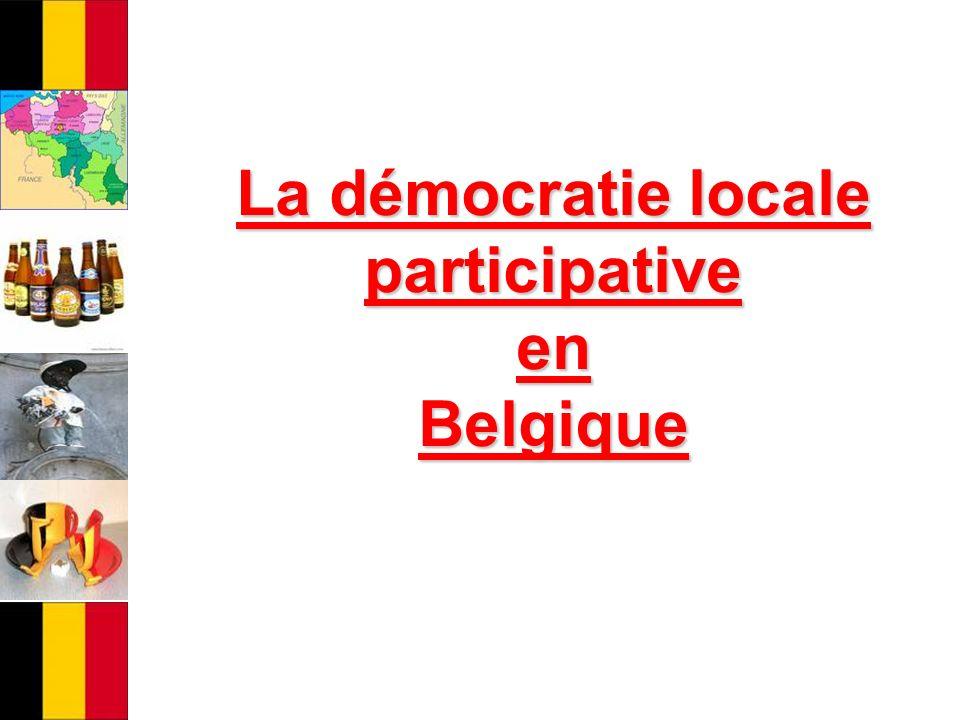 La démocratie locale participative en Belgique