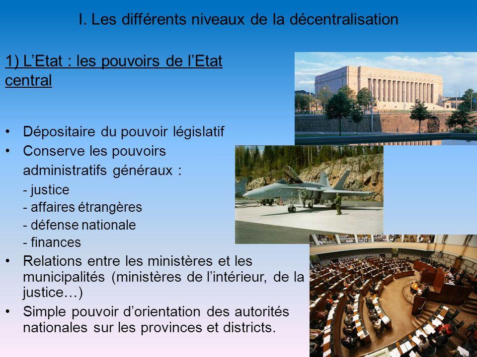 I. Les différents niveaux de la décentralisation