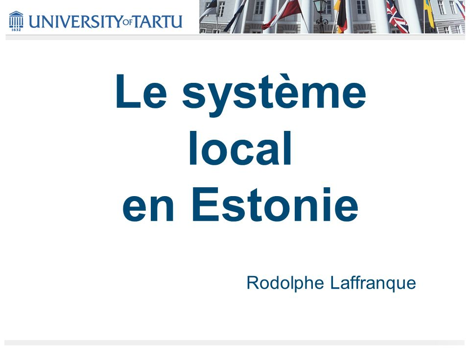 Le système local en Estonie