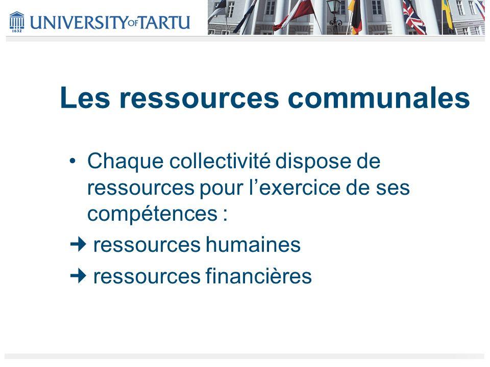 Les ressources communales