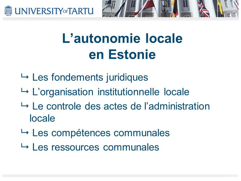 L'autonomie locale en Estonie