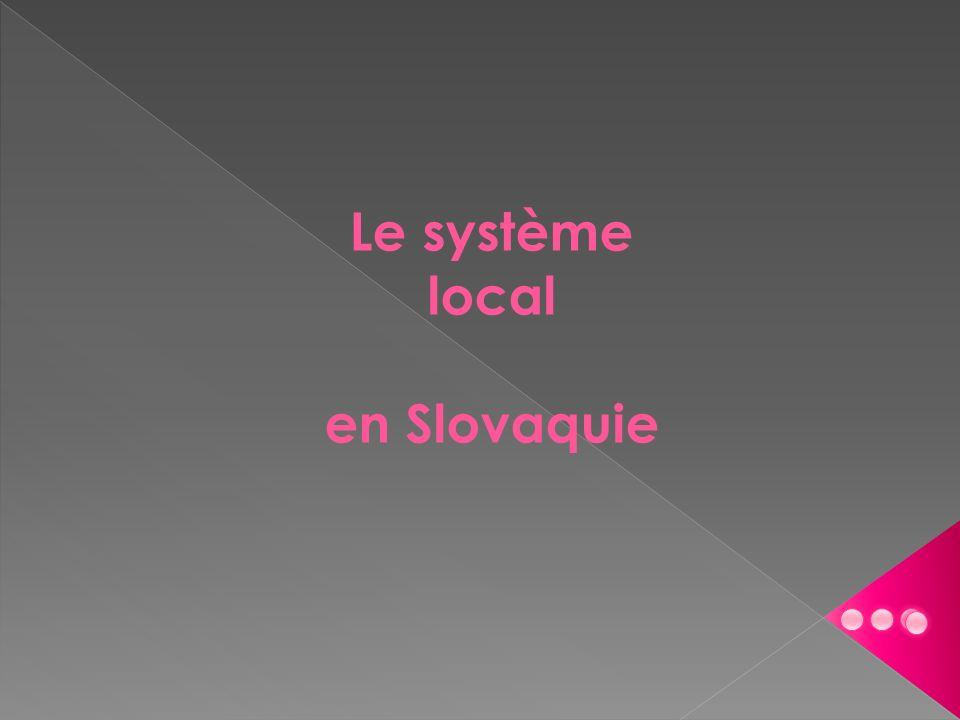Le système local en Slovaquie
