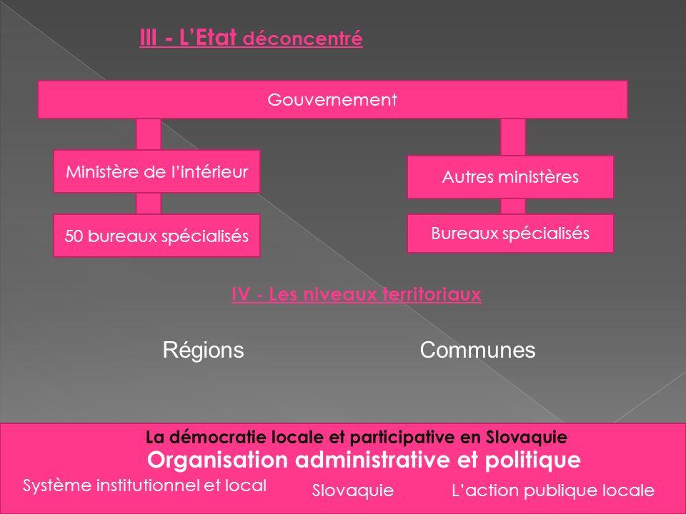 III - L'Etat déconcentré