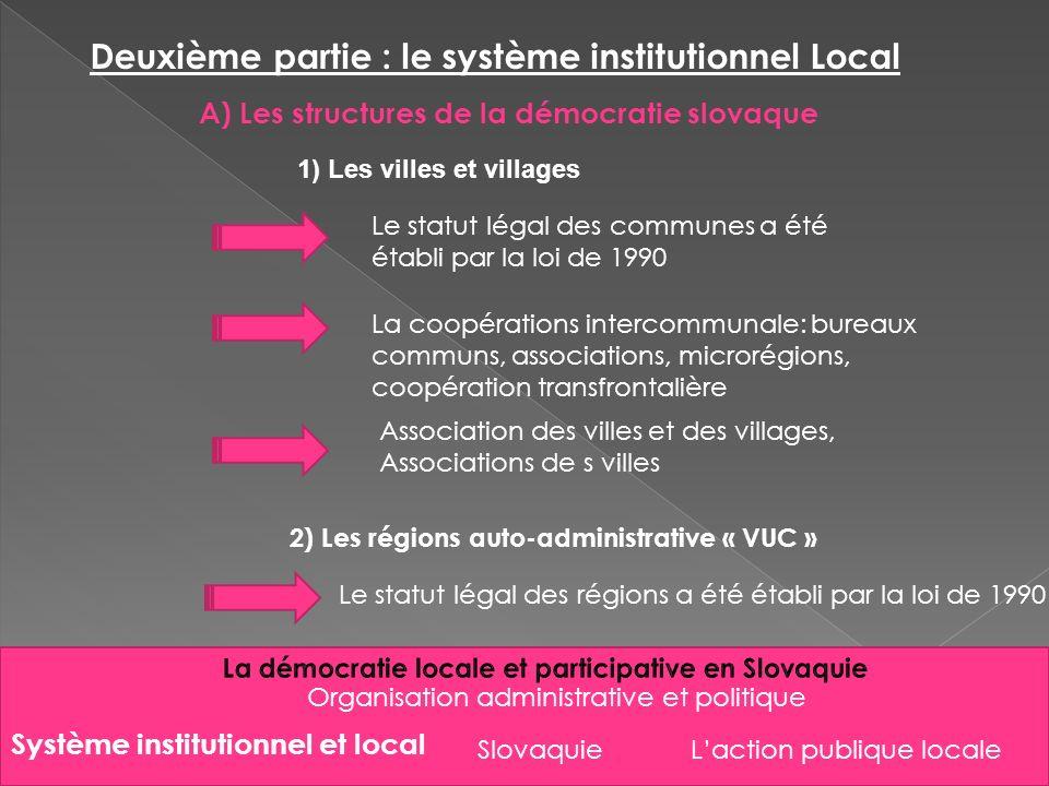 Deuxième partie : le système institutionnel Local