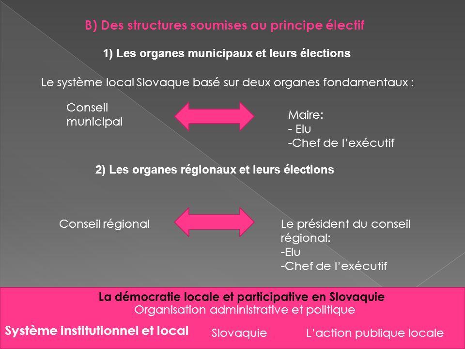 La démocratie locale et participative en Slovaquie