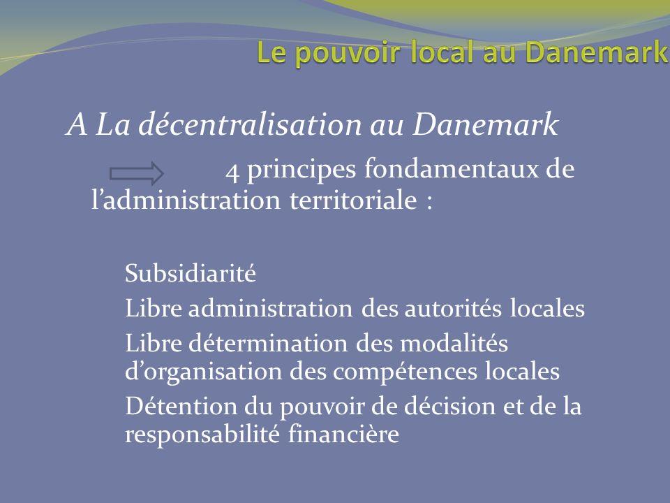 A La décentralisation au Danemark