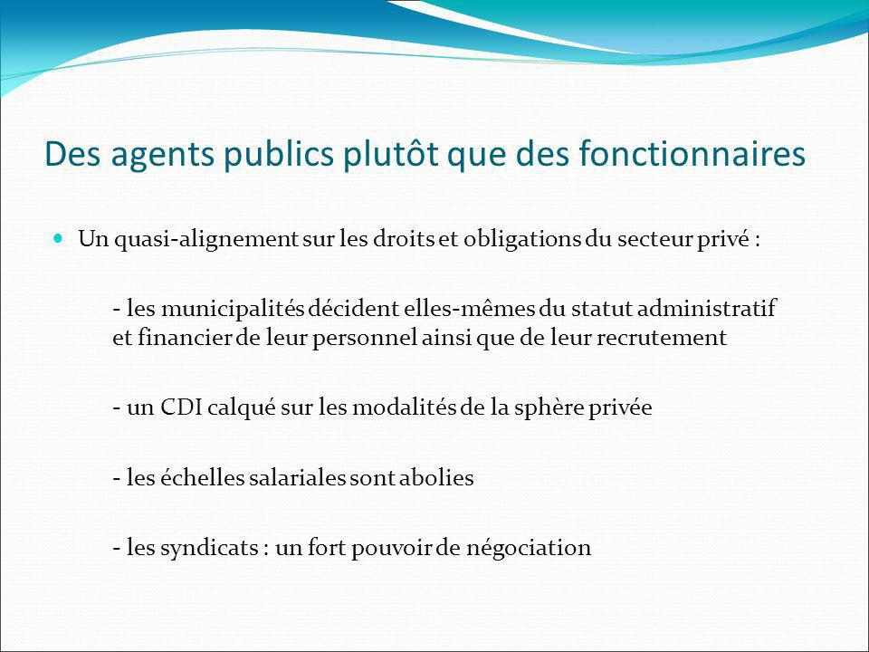 Des agents publics plutôt que des fonctionnaires