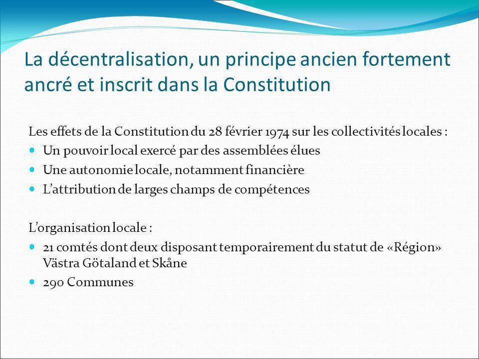 La décentralisation, un principe ancien fortement ancré et inscrit dans la Constitution