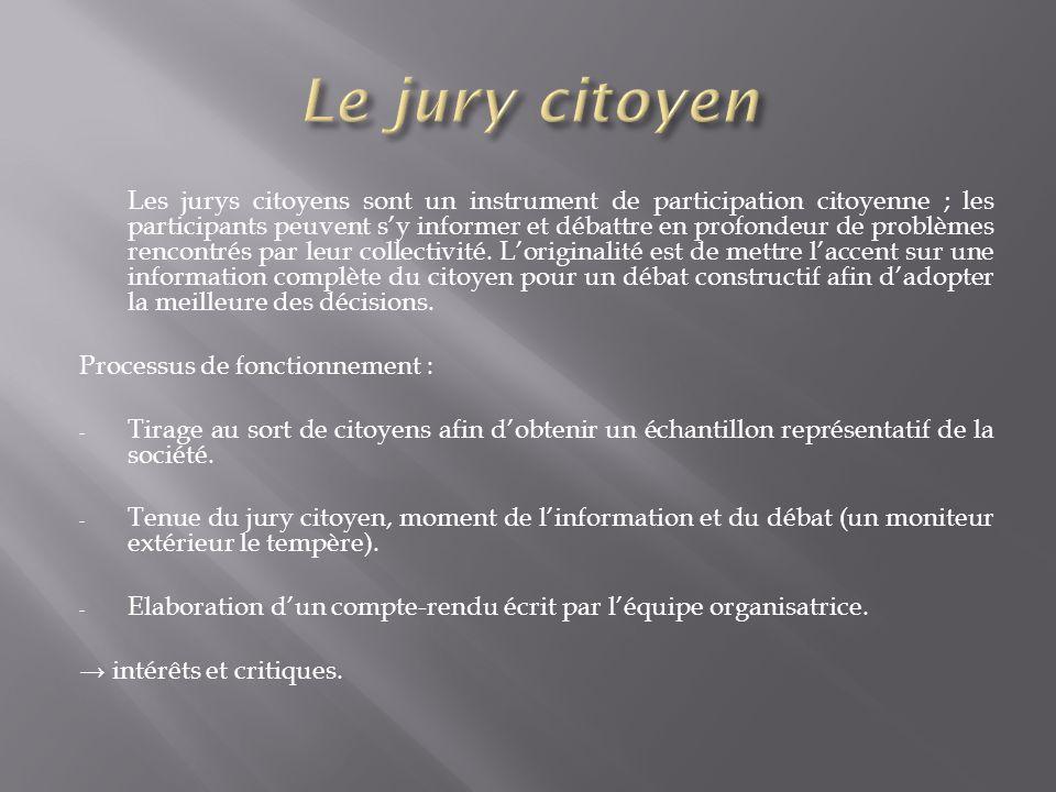 Le jury citoyen